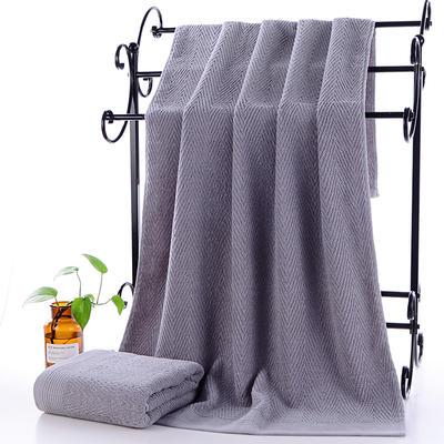 2019新款水纹浴巾70*140 浅灰