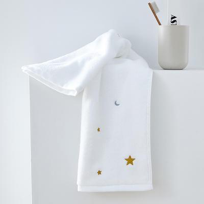 2019新款星月毛巾34*75 白色