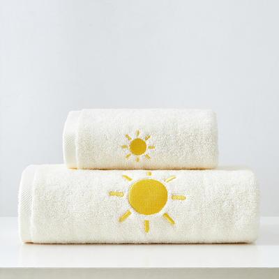 2019新款天氣浴巾70*140 淺黃色