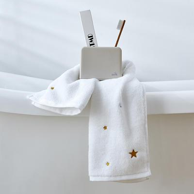 2019新款星月浴巾70*140 白色