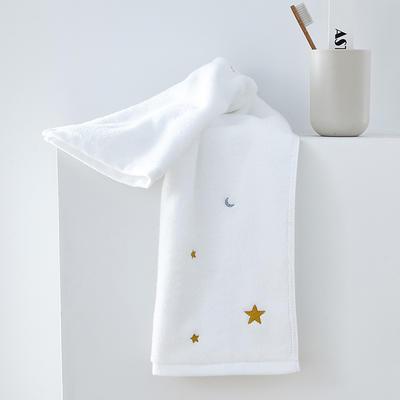 2019新款星月套巾 白色(毛巾34*75)