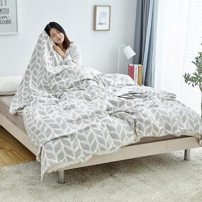 2019新款三层水洗纱布毯 150x200cm 麦穗灰色