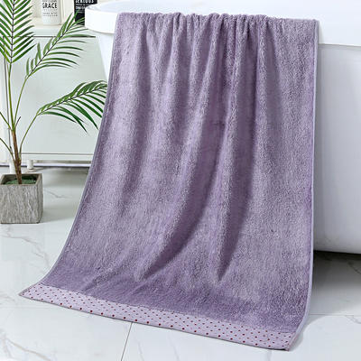 2019新款竹纤维水波套巾 紫色(毛巾34*75)
