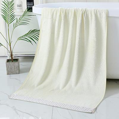 2019新款竹纤维水波套巾 米白色(毛巾34*75)