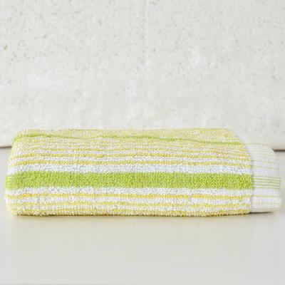 菲纹毛巾 绿条