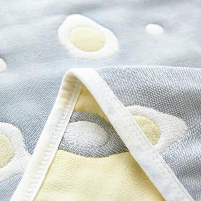 六层纱布毯  爆款花型很多 90cm*100cm 煎蛋灰