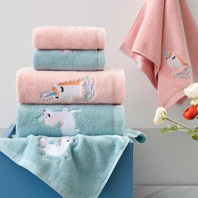 獨角獸 毛巾 浴巾 套巾 粉色(毛巾34*75)