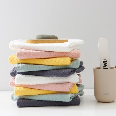 華夫格 毛巾 浴巾 套巾 粉色(毛巾34*74)