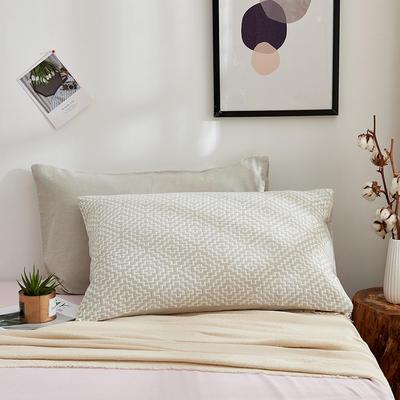 全棉三层水洗枕套系列 半城阳光浅驼