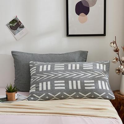 全棉三层水洗枕套系列 符号灰色