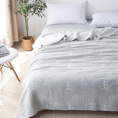 三层水洗纱布薄款 200cmx230cm 森林灰色