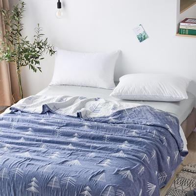 三層水洗紗布薄款 200cmx230cm 森林藍色