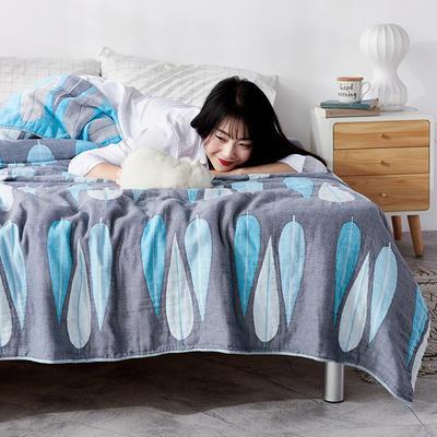 四层水洗纱布毯 200cmx230cm 虎皮兰