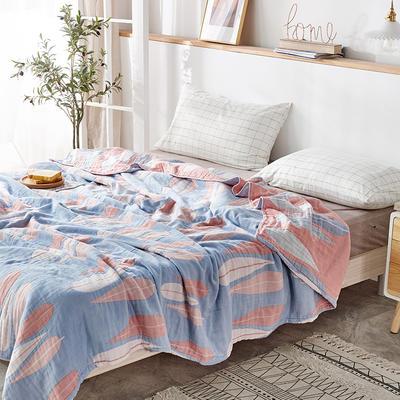 四层水洗纱布毯 200cmx230cm 虎皮兰粉
