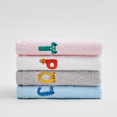 純真童巾3條裝4條裝爆款(26*50) 白1粉1灰1藍1