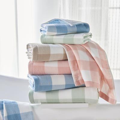 无印方格 方巾毛巾浴巾 粉色方巾(33*34)