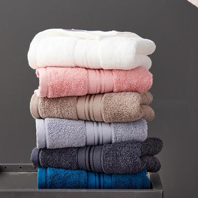 加大加厚 梦享方巾毛巾浴巾 白色毛巾2条
