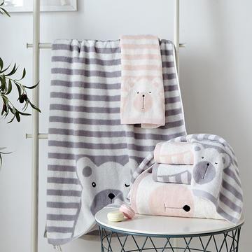 萌宠熊毛巾浴巾随意组合