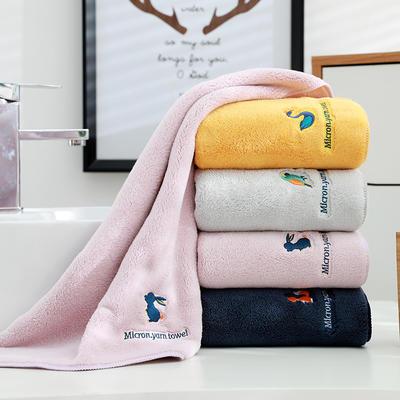 四色动物园 方巾毛巾浴巾 黄色方巾(30*30)