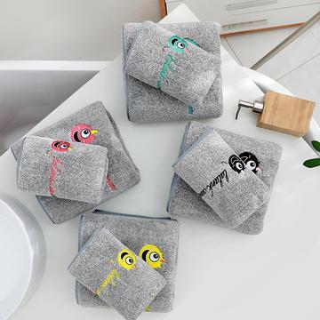 竹炭套装方巾毛巾浴巾