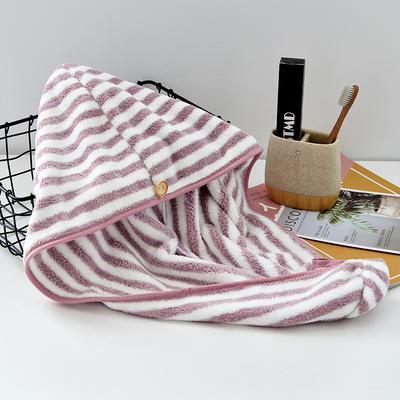 阳离子毛巾浴巾浴帽套装 浅紫浴帽(25*65)