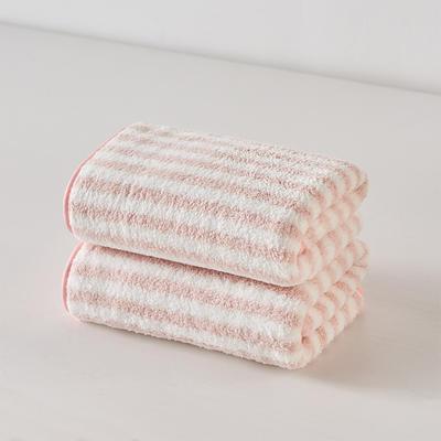 阳离子毛巾浴巾浴帽套装 浅粉毛巾(35*75)