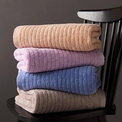 漫時光浴巾90*180 藍色