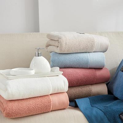加大加宽 超柔宽段浴巾 白色