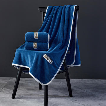 时尚珊瑚绒毛巾浴巾