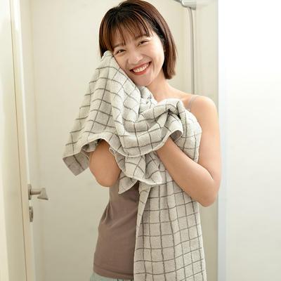 簡單元素毛巾浴巾組合 粉色毛巾2條