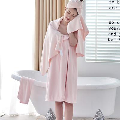超柔速干毛巾浴巾浴帽組合套裝 浴帽25-65 淺粉