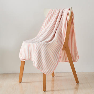 陽離子毛巾浴巾浴帽套裝 淺粉浴巾(70*140)