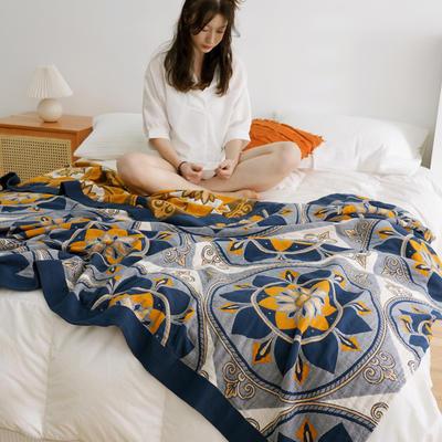 四層水洗紗布毯 200*230 波斯蘭