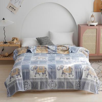 雙層紗布毛巾被蓋毯 200cmx230cm 斑馬粉