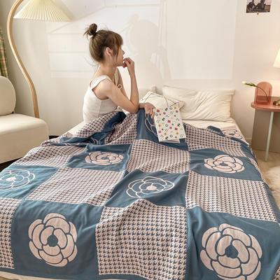 四層紗布蓋毯 200*230 可愛兔