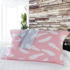 轻羽枕巾 粉红色