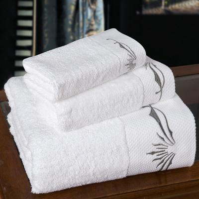 宾馆铂金段 套巾:一方一毛一浴白色