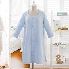 水洗纱布家居服 均码 天蓝色