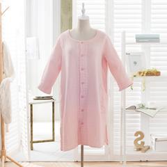 水洗纱布家居服 均码 粉红色