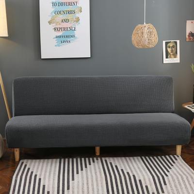 2020新款玉米绒无扶手沙发床套A款 120-150cm*100cm 巴黎灰