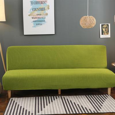 2020新款玉米绒无扶手沙发床套A款 120-150cm*100cm 翠竹绿