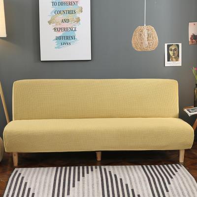 2020新款玉米绒无扶手沙发床套A款 120-150cm*100cm 稻香黄