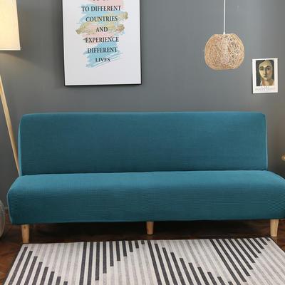 2020新款玉米绒无扶手沙发床套A款 120-150cm*100cm 青石蓝