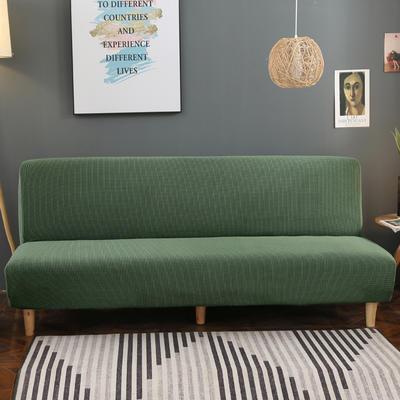 2020新款玉米绒无扶手沙发床套A款 120-150cm*100cm 松柏绿