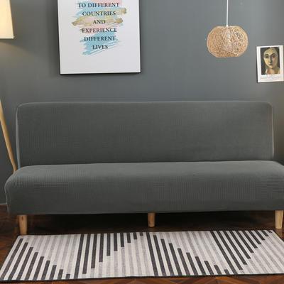 2020新款玉米绒无扶手沙发床套A款 120-150cm*100cm 中东灰