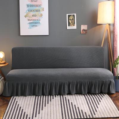 2020新款玉米绒裙边款沙发床套B款 120-140cm*100cm 巴黎灰