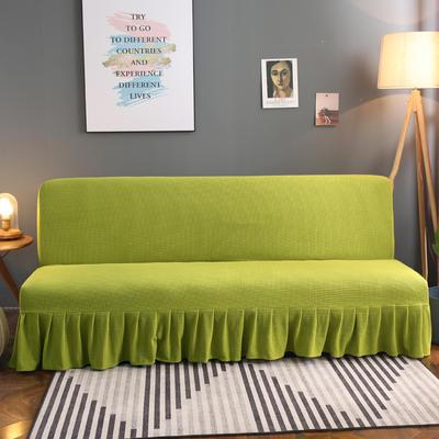 2020新款玉米绒裙边款沙发床套B款 120-140cm*100cm 翠竹绿