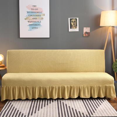 2020新款玉米绒裙边款沙发床套B款 120-140cm*100cm 稻香黄