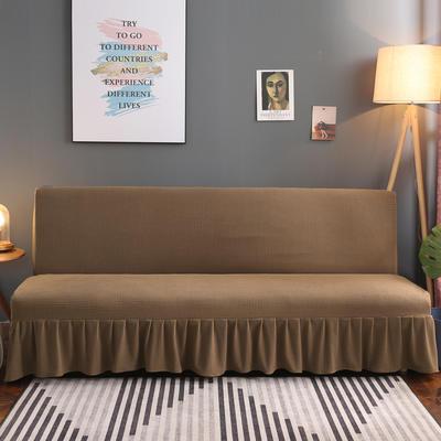 2020新款玉米绒裙边款沙发床套B款 120-140cm*100cm 菲尔咖