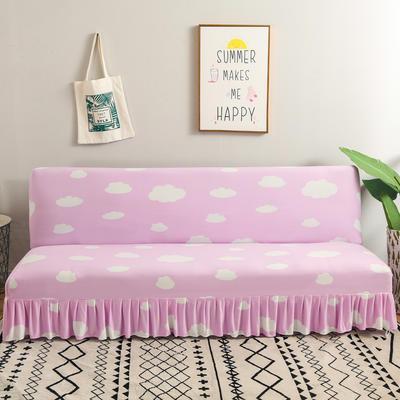 2020新款裙边款无扶手沙发床套B款 120-140cm*100cm 深紫色